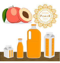 The theme peach vector