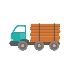Truck wood transportation vector