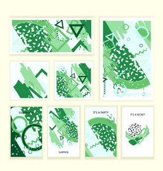Universal abstract posters and cards set vector