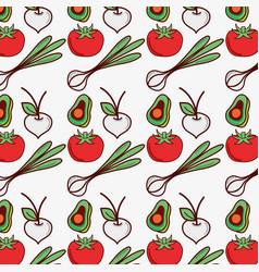 Vegetables background decoration design icon vector