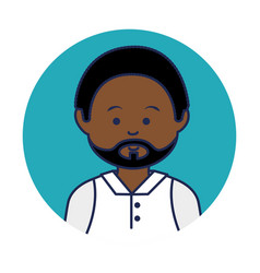 Young african man avatar character vector