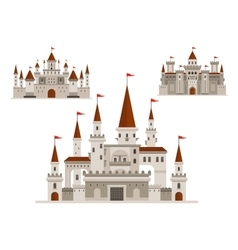 Fortified castle fairy palace and fortress vector