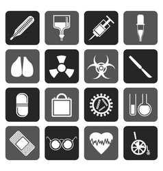 Flat collection of medical themed icons vector