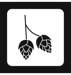 Hops icon simple style vector