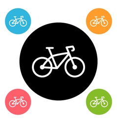 Round bike icon vector