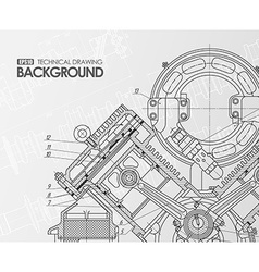 White background with technical drawings vector