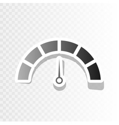 Speedometer sign   new year vector