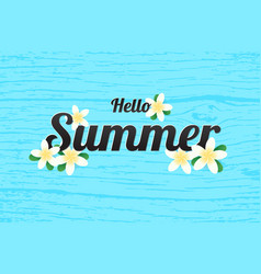 Summer greeting season with plumeria flowers or vector