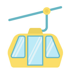 Funicular flat icon travel and tourism vector
