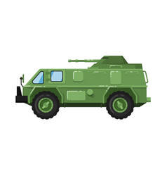 Modern army truck isolated icon vector