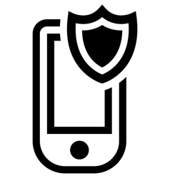 Mobile phone security icon vector