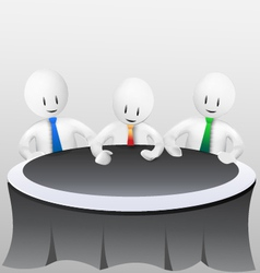 3d business men-meeting vector image vector image