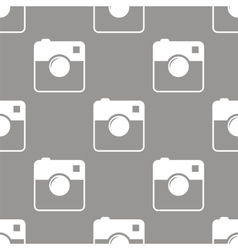 Camera seamless pattern vector