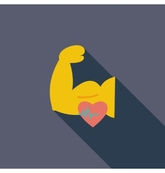 Icon of bodybuilding vector