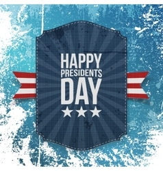 Happy presidents day big realistic card template vector
