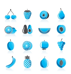 Different kind of fruit and icons vector
