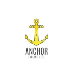 Anchor logo icon sea sailor symbol vector
