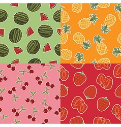 food patterns vector image