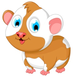 Funny fat hamster cartoon posing vector
