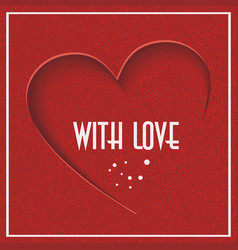 Abstract background with red heart valentines day vector
