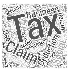 Are you ready for tax day word cloud concept vector
