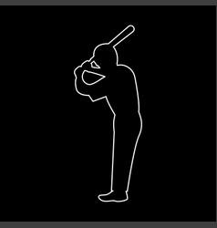 ballplayer the white path icon vector image