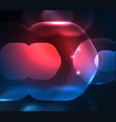 blurred transparent hexagons on dark digital vector image vector image