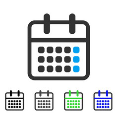 calendar month flat icon vector image vector image