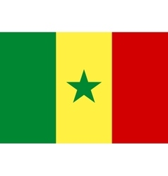 Flag of senegal in correct proportions and colors vector