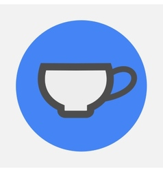 little cup icon vector image vector image