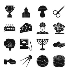 Medicine farm sport and other web icon in black vector