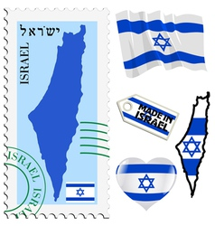 national colours of Israel vector image vector image