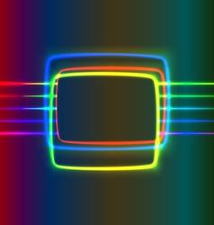 Neon screen vector image vector image