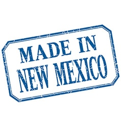 New mexico - made in blue vintage isolated label vector