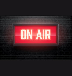 On air realistic sign vector