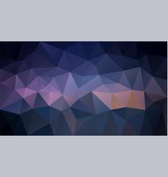 polygonal background dark purple vector image vector image