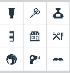 set of simple hairdresser vector image vector image