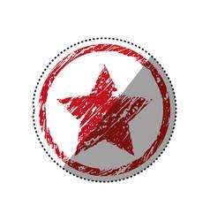 Star medal symbol vector