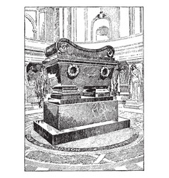 The tomb of napoleon vintage vector