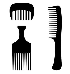 Three combs vector image vector image