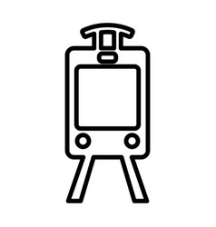 Train line icon tram outline sign pictogram vector