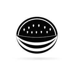 watermelon black fruit vector image