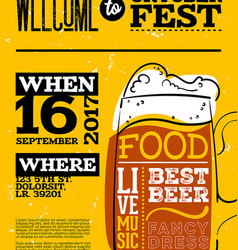 welcome to oktoberfest poster vertical vector image vector image
