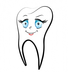 white teeth vector image vector image
