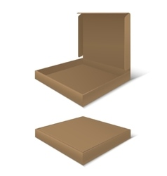 Template blank cardboard pizza boxes vector