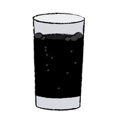 Glass cup with soda fresh cold vector
