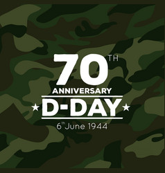 70th anniversary of d-day icon vector
