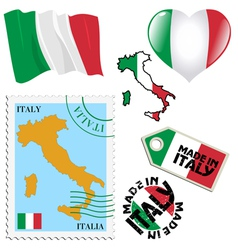 National colours of italy vector