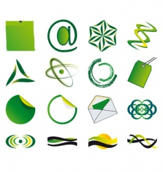 set of symbols vector image