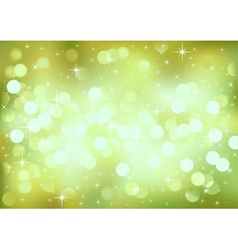 Green festive lights background vector